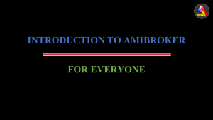 AmiBroker Template และ Introduction to AmiBroker for Everyone วีดีโอสอน AmiBroker เบื้องต้น ฟรี
