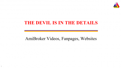 AmiBroker Videos Fanpages Websites