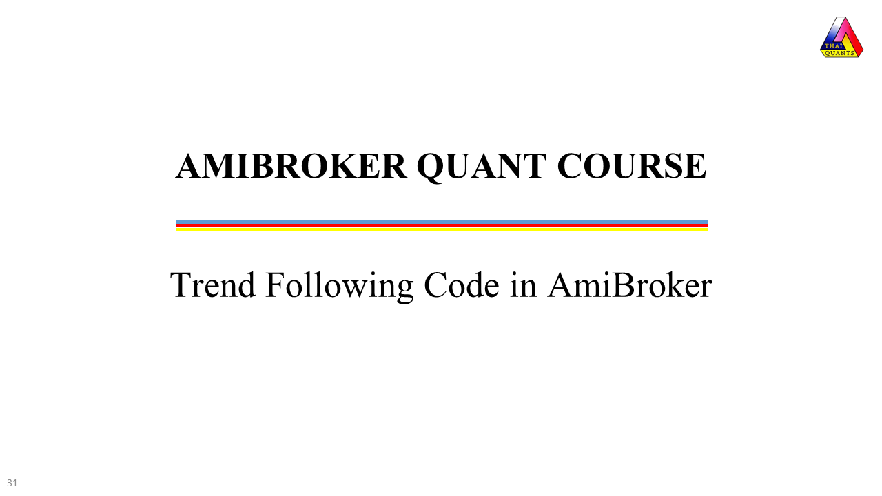 Trend Following Code in AmiBroker