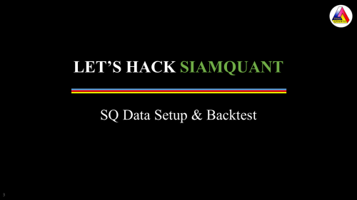 SiamQuant Data Setup and Backtest