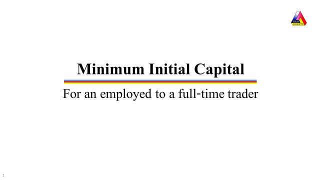 Minimum Initial Capital for a full time trader Cover Page