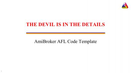 AmiBroker AFL Code Template