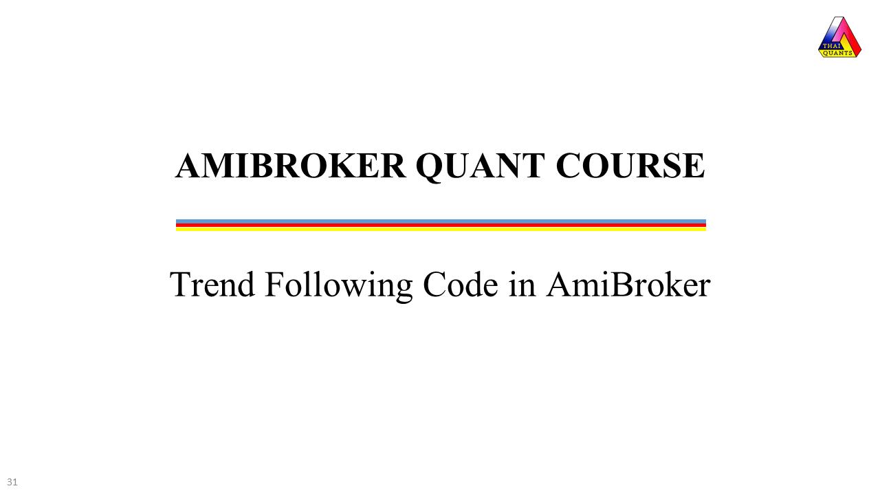 Trend Following Code in AmiBroker